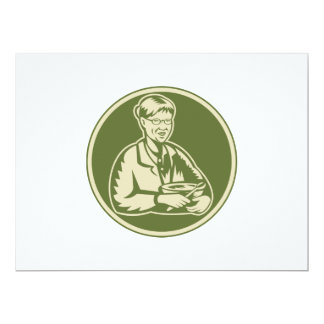 Granny Grandmother Cooking Mixing Bowl 6.5x8.75 Paper Invitation Card
