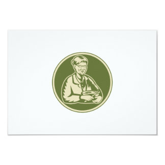 Granny Grandmother Cooking Mixing Bowl 3.5x5 Paper Invitation Card