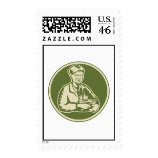 Granny Grandmother Cooking Mixing Bowl Postage Stamps