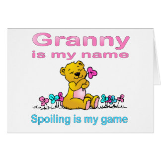 Granny Is My Name, Spoiling Is my Game Card