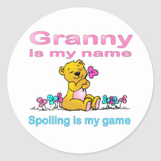 Granny Is My Name, Spoiling Is my Game Stickers