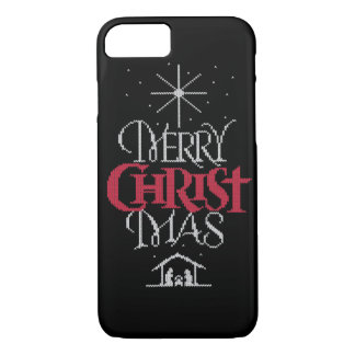 Granny Knit Religious Christian - Merry Christmas iPhone 7 Case