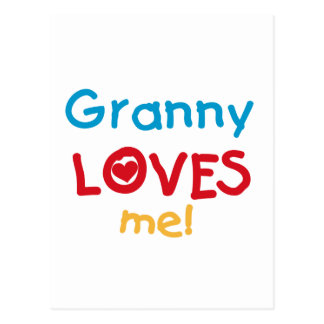 Granny Loves Me Tshirts and Gifts Postcard