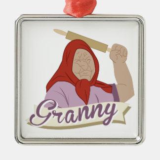 Granny Metal Ornament