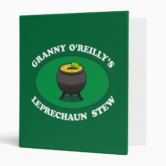 Granny O'Reilly's Leprechaun Stew 3 Ring Binder