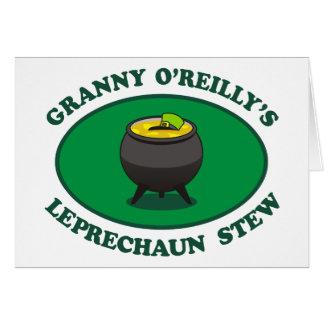 Granny O'Reilly's Leprechaun Stew Card