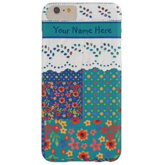 Granny Print Patchwork and Lace iPhone 6 Plus Case