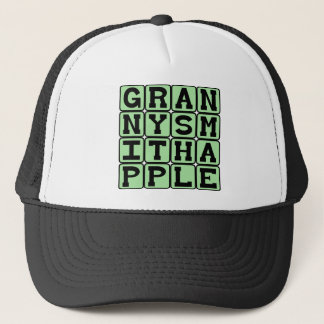Granny Smith Apple, Color and Fruit Trucker Hat