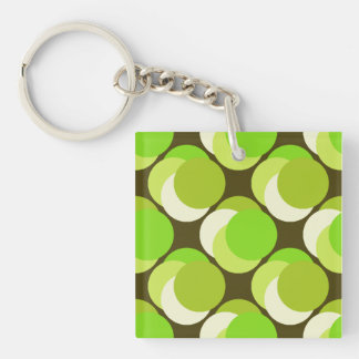 Granny Smith Apple Double-Sided Square Acrylic Keychain