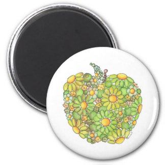 Granny Smith Apple 2 Inch Round Magnet