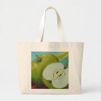 Granny smith verde Apple Bolsa Tela Grande