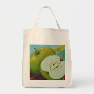 Granny smith verde Apple Bolsa Tela Para La Compra
