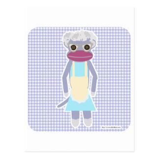 Granny Sock Monkey Postcard