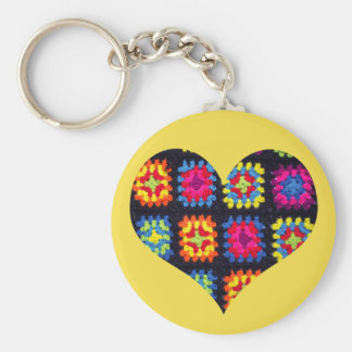 Granny Square Keychain - Crochet Keychain