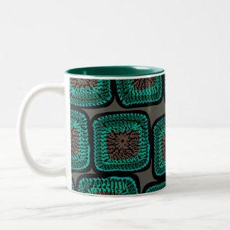 granny square mug (teal)