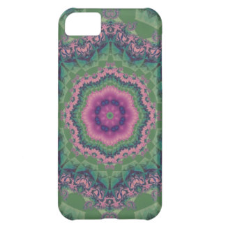 Granny Square Quilt Block Damask Pink Fractal Case For iPhone 5C