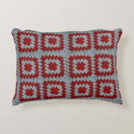 Granny Squares Accent Pillow