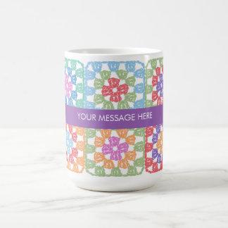 Granny Squares Crochet Mug