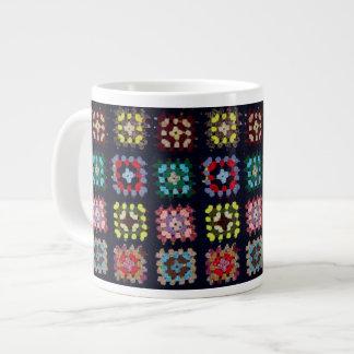 Granny squares large coffee mug