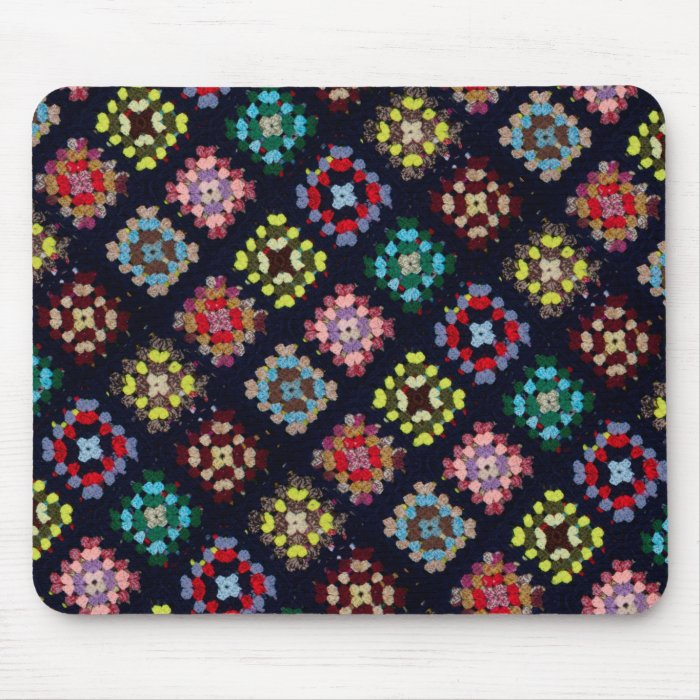 Granny squares mouse pad