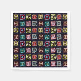 Granny squares paper napkin