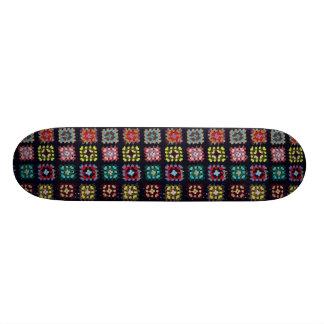 Granny squares skateboard deck