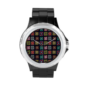 Granny squares wristwatch
