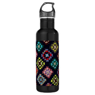 Granny squares water bottle