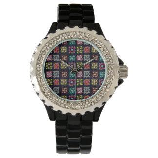 Granny squares wrist watches