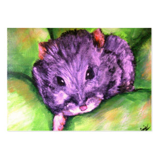 Granny the Grey Hamster ACEO Art Trading Cards Large Business Card