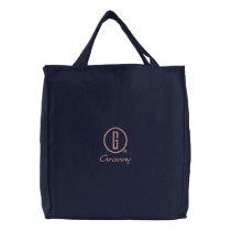 Granny's Embroidered Tote Bag