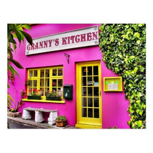 Granny's Kitchen Postcard