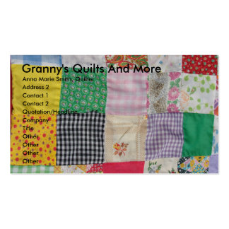 Granny's Quilts And More Business Card Template