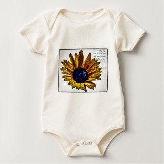 grannys-sunflower baby bodysuit