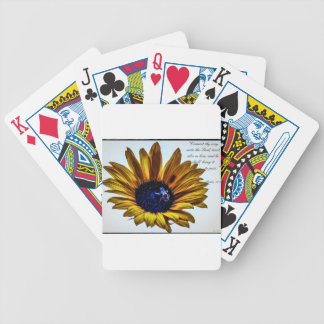 grannys-sunflower bicycle playing cards