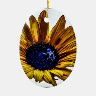 grannys-sunflower ceramic ornament