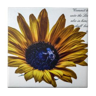 grannys-sunflower ceramic tile