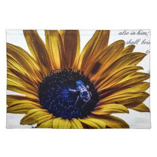 grannys-sunflower cloth placemat