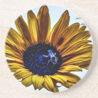 grannys-sunflower drink coaster