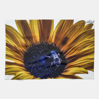 grannys-sunflower hand towel