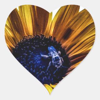grannys-sunflower heart sticker