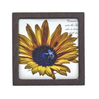 grannys-sunflower jewelry box