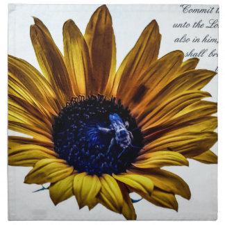 grannys-sunflower napkin