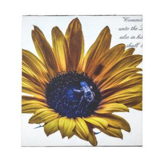 grannys-sunflower notepad