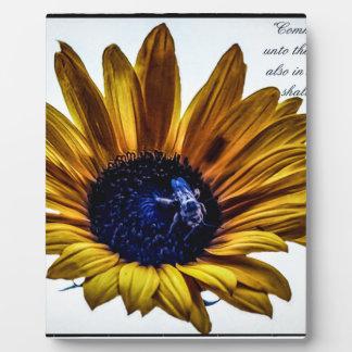 grannys-sunflower photo plaque