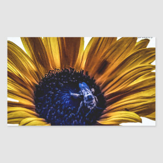 grannys-sunflower rectangular sticker