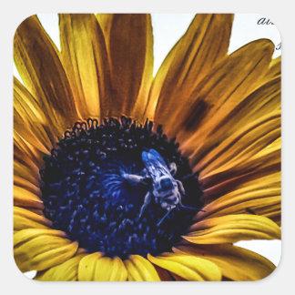 grannys-sunflower square sticker