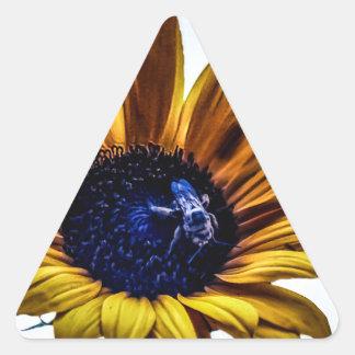 grannys-sunflower triangle sticker