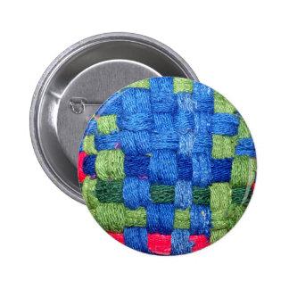 Granny's Woven Potholder Pattern Button