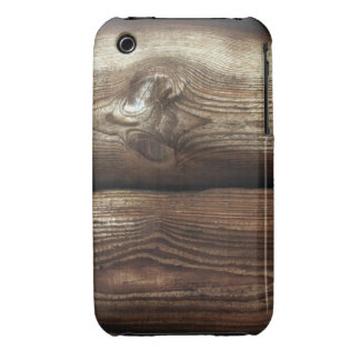 Grano Antiqued de Brown y de madera del moreno iPhone 3 Cobreturas